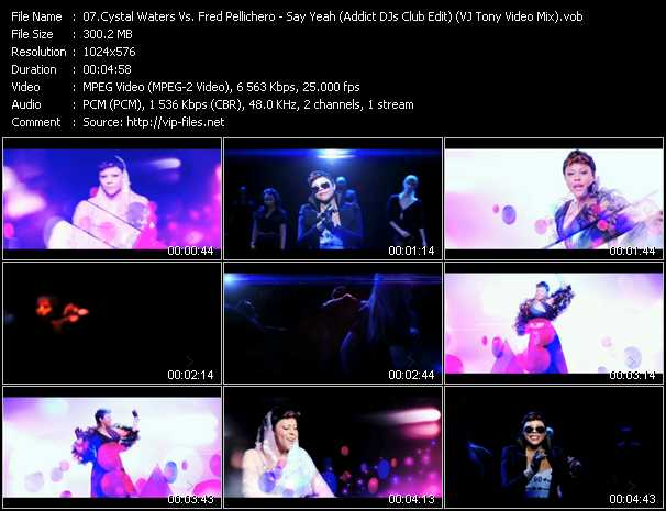 Crystal Waters Vs. Fred Pellichero - Say Yeah (Addict DJs Club Edit) (VJ Tony Video Mix)