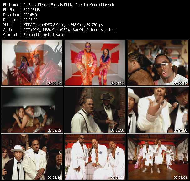 Busta Rhymes Feat. P. Diddy (Puff Daddy) - Pass The Courvoisier