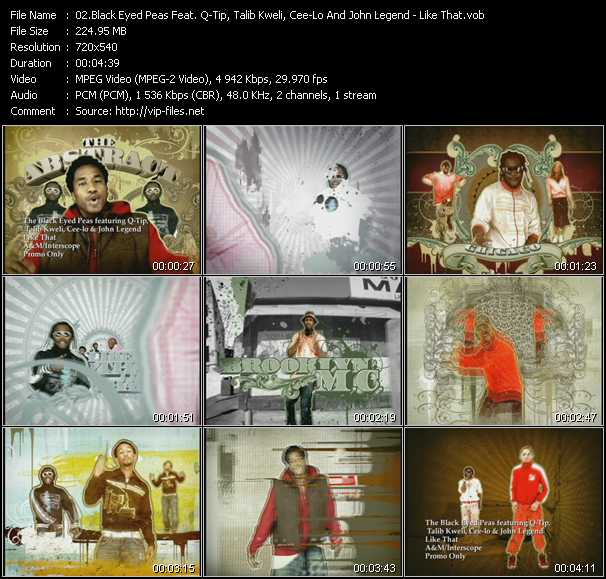 Black Eyed Peas Feat. Q-Tip, Talib Kweli, Cee Lo Green And John Legend - Like That