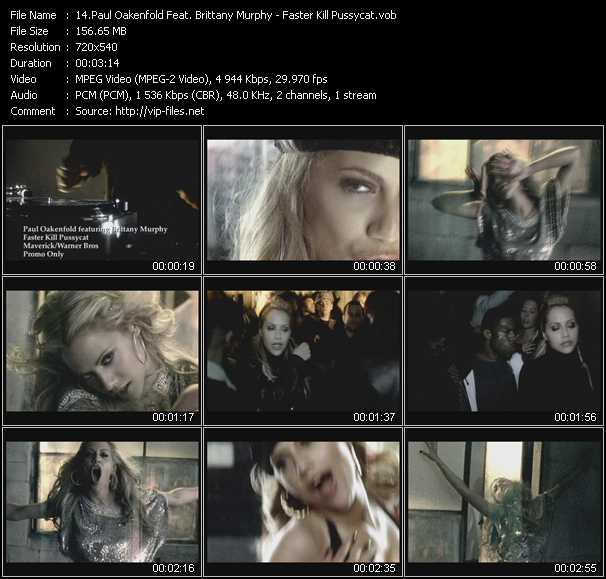 Paul Oakenfold Feat. Brittany Murphy - Faster Kill Pussycat