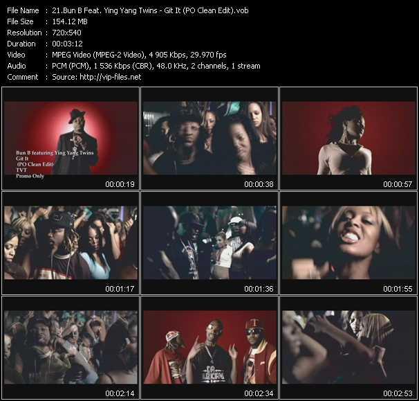 Bun B Feat. Ying Yang Twins - Git It (PO Clean Edit)