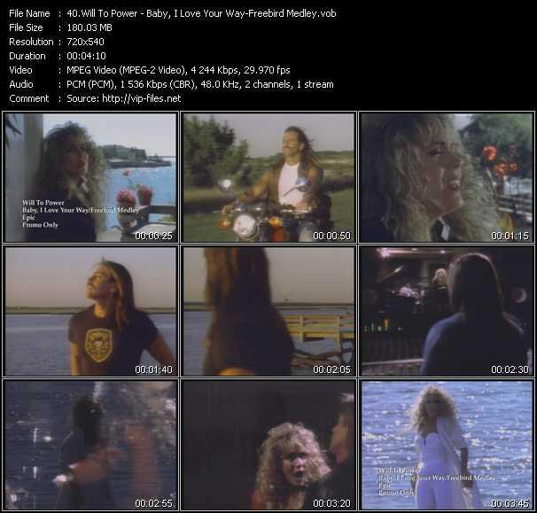 Will To Power - Baby, I Love Your Way - Freebird Medley