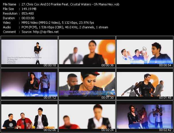 Chris Cox And DJ Frankie Feat. Crystal Waters - Oh Mama Hey