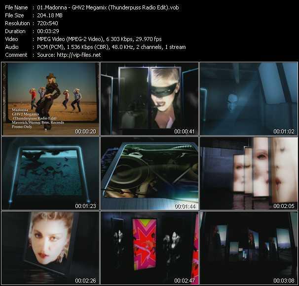 Madonna - GHV2 Megamix (Thunderpuss Radio Edit)