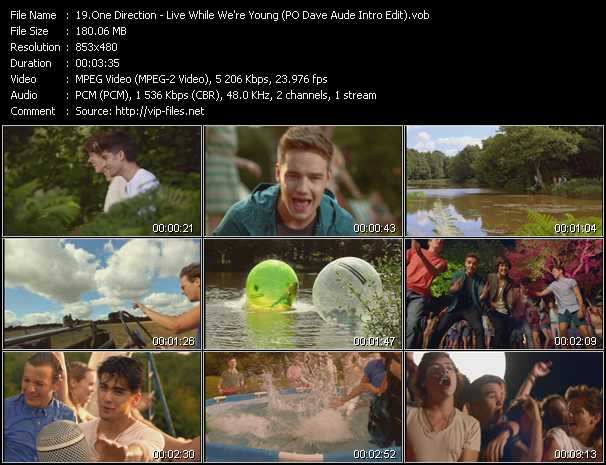 One Direction - Live While We're Young (PO Dave Aude Intro Edit)