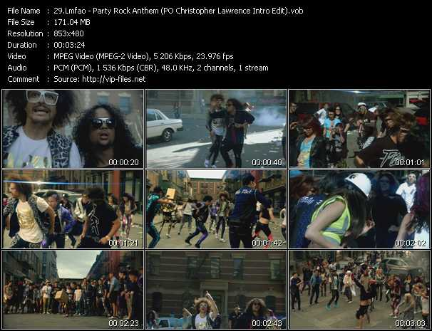 Lmfao - Party Rock Anthem (PO Christopher Lawrence Intro Edit)