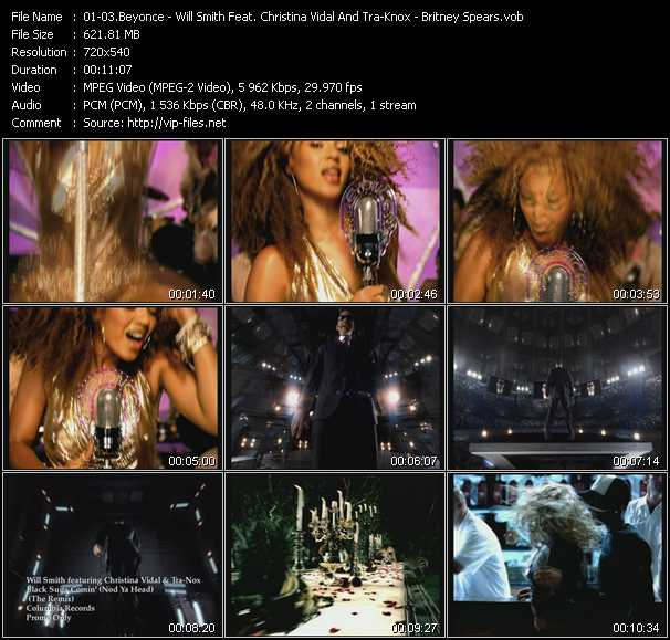 Beyonce - Will Smith Feat. Christina Vidal And Tra-Knox - Britney Spears - Work It Out - Black Suits Comin' (Nod Ya Head) (The Remix) - Boys