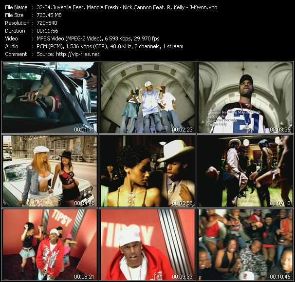Juvenile Feat. Mannie Fresh - Nick Cannon Feat. R. Kelly - J-Kwon - In My Life - Gigolo - Tipsy
