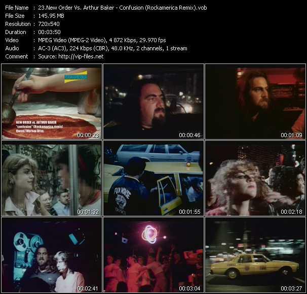 New Order Vs. Arthur Baker - Confusion (Rockamerica Remix)