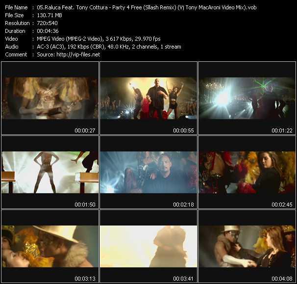 Raluca Feat. Tony Cottura - Party 4 Free (Sllash Remix) (Vj Tony MacAroni Video Mix)