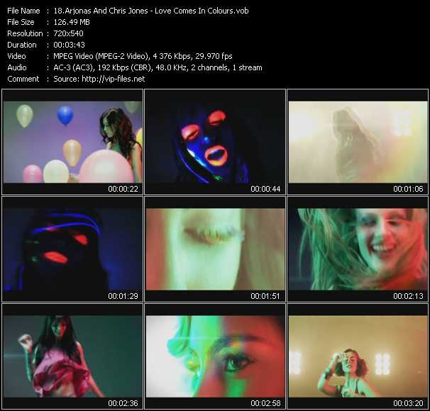 Arjonas And Chris Jones - Love Comes In Colours