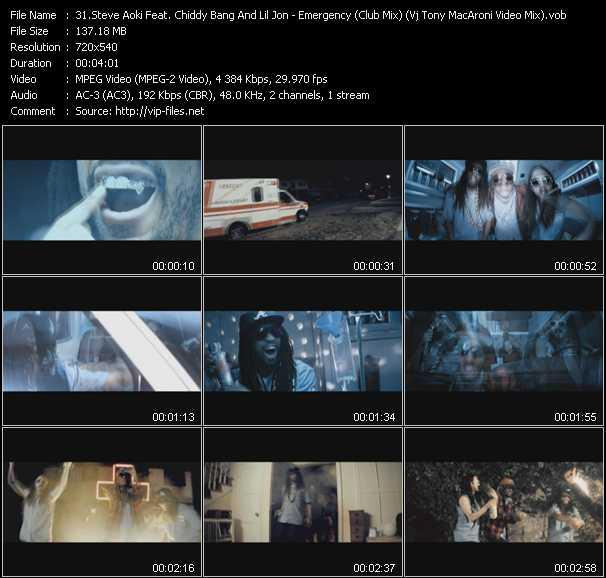 Steve Aoki Feat. Lil' Jon And Chiddy Bang - Emergency (Club Mix) (Vj Tony MacAroni Video Mix)