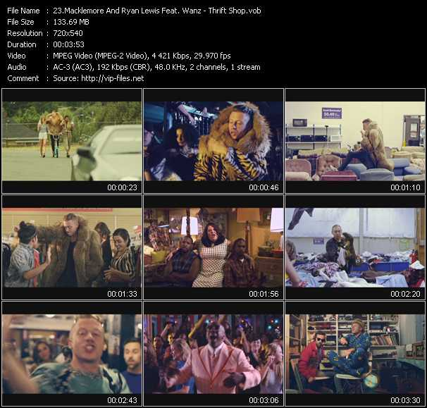 Macklemore And Ryan Lewis Feat. Wanz - Thrift Shop