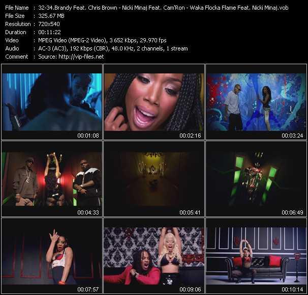 Brandy Feat. Chris Brown - Nicki Minaj Feat. Cam'Ron And Rick Ross - Waka Flocka Flame Feat. Nicki Minaj, Tyga And Flo Rida - Put It Down - I Am Your Leader - Get Low