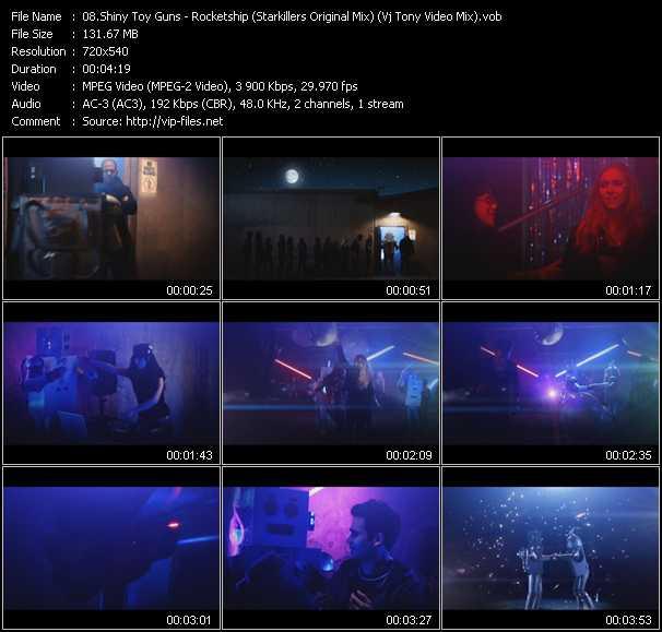 Shiny Toy Guns - Rocketship (Starkillers Original Mix) (Vj Tony Video Mix)