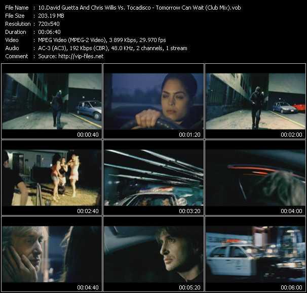 David Guetta And Chris Willis Vs. Tocadisco - Tomorrow Can Wait (Club Mix) (Dj Dem Rok Video Edit)