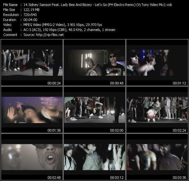 Sidney Samson Feat. Lady Bee And Bizzey - Let's Go (PH Electro Remix) (Vj Tony Video Mix)
