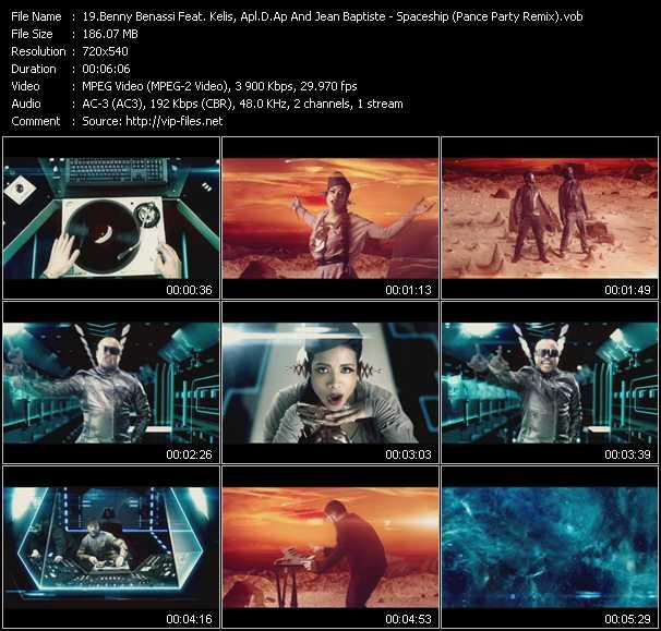 Benny Benassi Feat. Kelis, Apl.De.Ap And Jean-Baptiste - Spaceship (Pance Party Remix) (Vj Tony MacAroni Video Mix)
