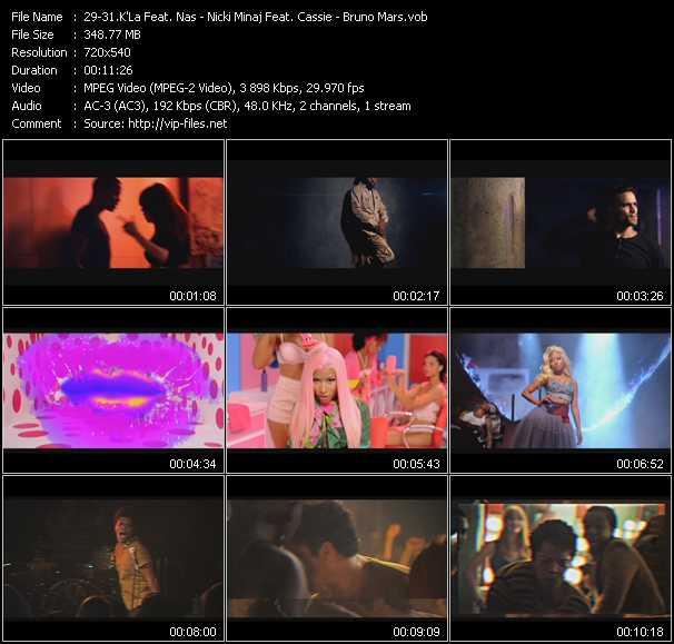 K'La Feat. Nas - Nicki Minaj Feat. Cassie - Bruno Mars - Blame - The Boys - Locked Out Of Heaven