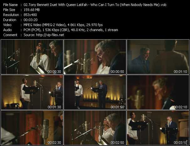 Tony Bennett Duet With Queen Latifah - Who Can I Turn To (When Nobody Needs Me)