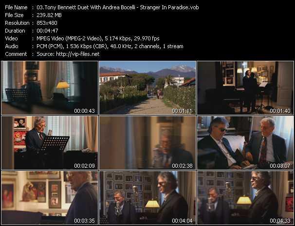 Tony Bennett Duet With Andrea Bocelli - Stranger In Paradise