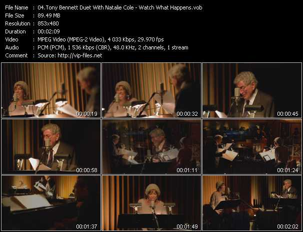 Tony Bennett Duet With Natalie Cole - Watch What Happens