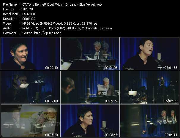 Tony Bennett Duet With K.D. Lang - Blue Velvet