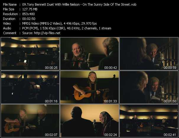 Tony Bennett Duet With Willie Nelson - On The Sunny Side Of The Street