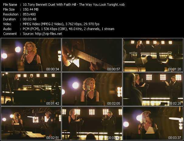 Tony Bennett Duet With Faith Hill - The Way You Look Tonight