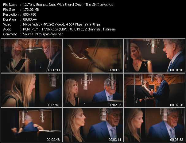 Tony Bennett Duet With Sheryl Crow - The Girl I Love