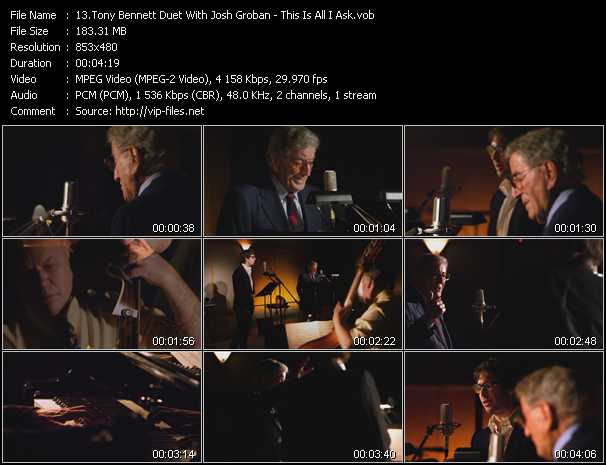 Tony Bennett Duet With Josh Groban - This Is All I Ask