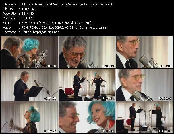 Tony Bennett Duet With Lady GaGa - The Lady Is A Tramp