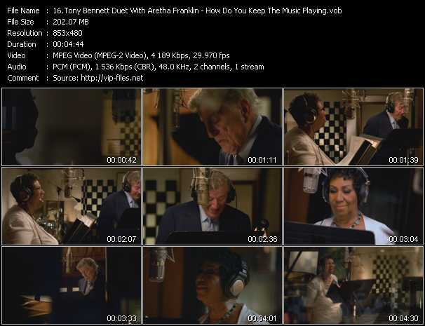 Tony Bennett Duet With Aretha Franklin - How Do You Keep The Music Playing