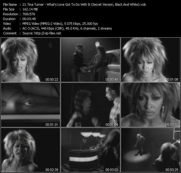 Tina Turner - What's Love Got To Do With It (Secret Version, Black And White)
